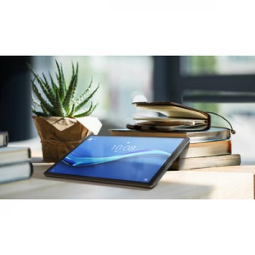 "Lenovo Smart Tab M10 TB X606FA ZA6M0007US Tablet   10.3"" WUXGA   4 GB RAM   128 GB Storage   Android 9.0 Pie   Platinum Gray Life-Style/500"