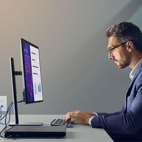 "Dell UltraSharp U2421HE 24"" Full HD LED LCD Monitor   16:9 Life-Style/500"