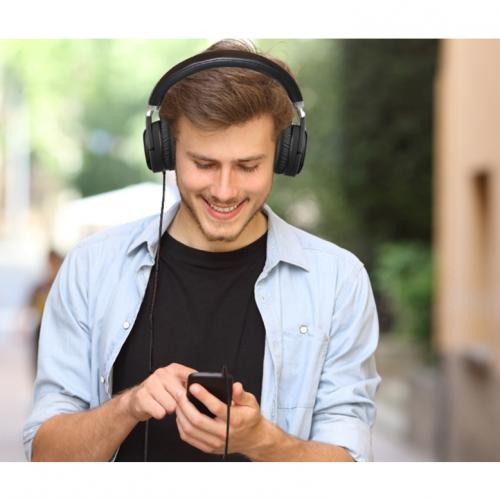Xtream P600   Bluetooth Active Noise Cancellation Headphone With Built In Microphone Life-Style/500