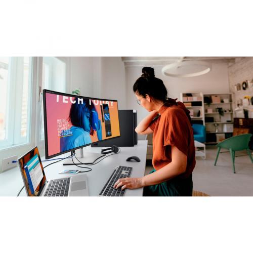 "Dell UltraSharp U4021QW 39.7"" WUHD Curved Screen LCD Monitor Life-Style/500"