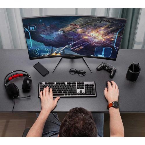 "Viewsonic VX3418 2KPC 34"" WQHD Curved Screen LED Gaming LCD Monitor   21:9 Life-Style/500"