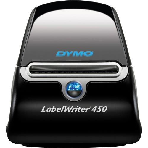 Dymo LabelWriter 450 Direct Thermal Printer   Monochrome   Label Print   USB   Black, Silver Out-of-Package/500