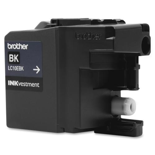 Brother Genuine LC10EBK INKvestment Super High Yield Black Ink Cartridge Out-of-Package/500