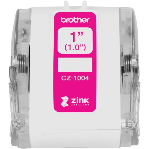 """Brother Genuine CZ 1004 Continuous Length 1"""" (1.0"""") 25 Mm Wide X 16.4 Ft. (5 M) Long Label Roll Featuring ZINK® Zero Ink Technology Out-of-Package/500"""