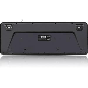 Adesso AKB 132HB  Multimedia Desktop Keyboard With 3 Port USB Hub Rear