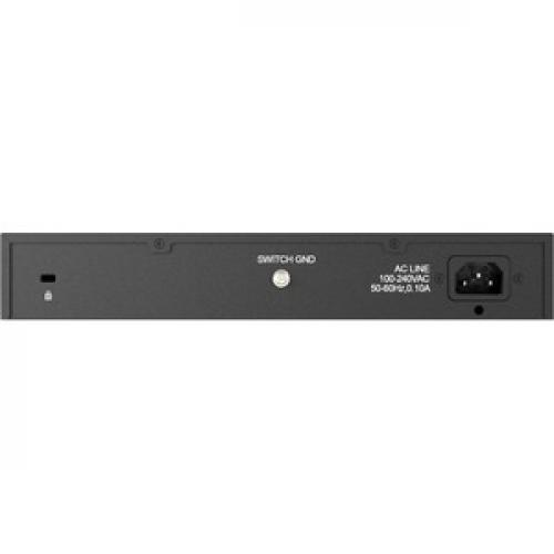 D Link DES 1024D 24 Port 10/100 Unmanaged Metal Desktop Or Rackmount Switch Rear/500