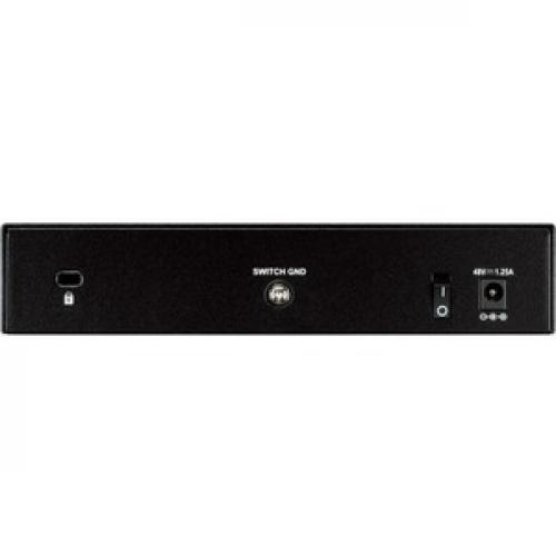 D Link DGS 1008P 8 Port Gigabit Metal Desktop Switch With 4 PoE Ports Rear/500
