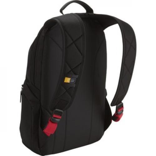 "Case Logic DLBP 114 Carrying Case (Backpack) For 13"" To 15"" Notebook   Black Rear/500"