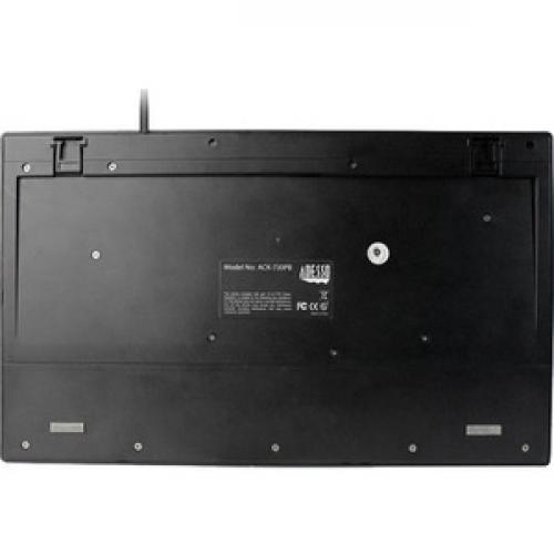 Adesso ACK 730PB MRP 1U Rackmount Keyboard With Touchpad Rear/500