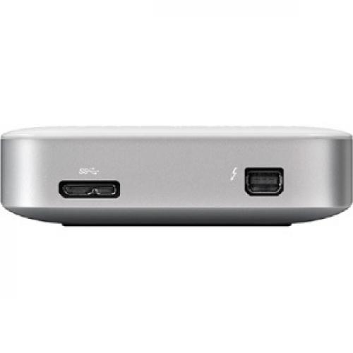 BUFFALO MiniStation Thunderbolt USB 3.0 1 TB Portable Hard Drive (HD PA1.0TU3) Rear/500