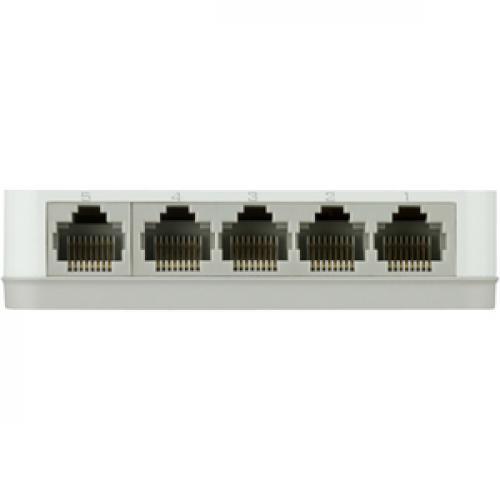 D Link GO SW 5G 5 Port Gigabit Unmanaged Desktop Switch Rear/500
