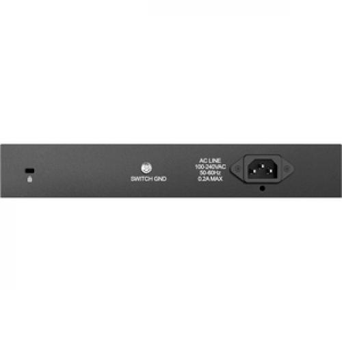 D Link DGS 1016D 16 Port Gigabit Unmanaged Metal Desktop Or Rackmount Switch Rear/500
