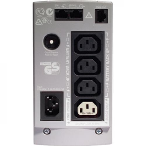 APC Back UPS CS 650VA 230V For International Use Rear/500