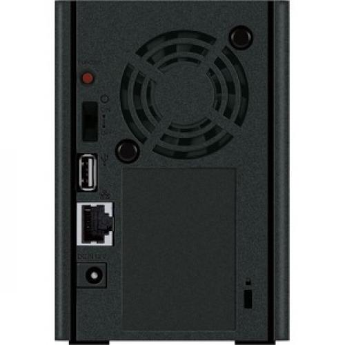 Buffalo LinkStation 220 8TB Personal Cloud Storage With Hard Drives Included Rear/500