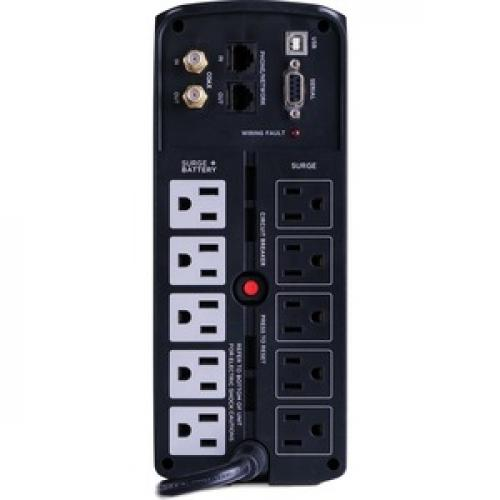 CyberPower UPS Systems BRG850AVRLCD Intelligent LCD    Capacity: 850 VA / 510 W Rear/500