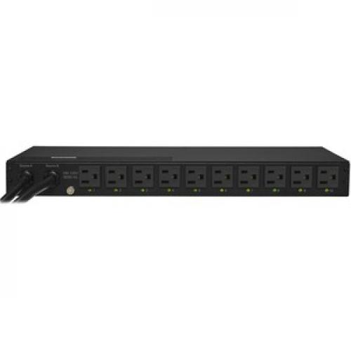 CyberPower PDU15SW10ATNET Switched ATS PDU 120V 15A 1U 10 Outlets (2) 5 15P Rear/500