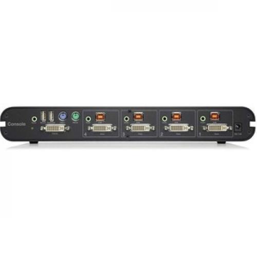 Linksys F1DN104B 3   Advanced Secure DVI I KVM Switch; 4 Port, PP3.0 Rear/500