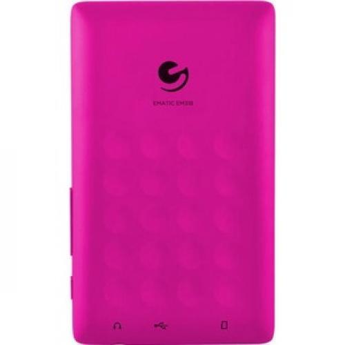Ematic EM318VID 8 GB Pink Flash Portable Media Player Rear/500