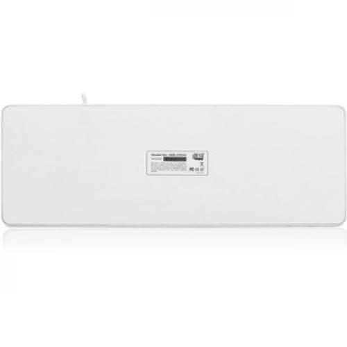 Adesso SlimTouch 270   Antimicrobial Waterproof Touchpad Keyboard (White) Rear/500
