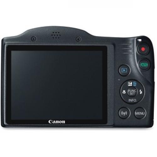 Canon PowerShot SX420 IS 20 Megapixel Compact Camera   Black Rear/500