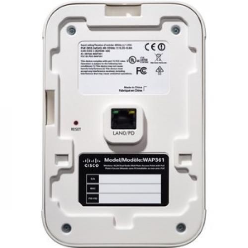 Cisco WAP361 IEEE 802.11ac 1.20 Gbit/s Wireless Access Point Rear/500