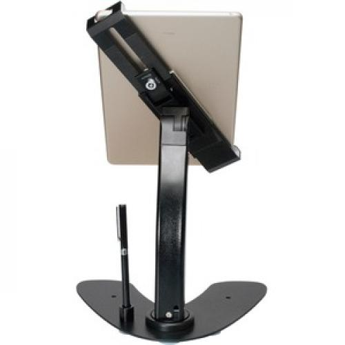 CTA Digital Universal Dual Security Kiosk With Locking Holder And Anti Theft Cable Rear/500