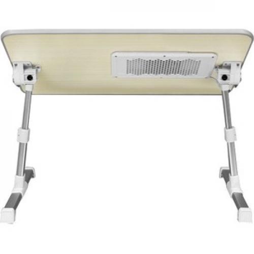 Aluratek Adjustable Ergonomic Laptop Cooling Table With Fan Rear/500