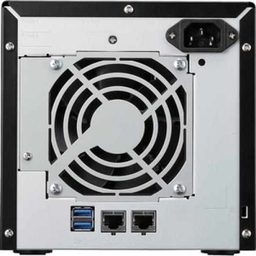 Buffalo TeraStation 3210DN Desktop 4 TB NAS Hard Drives Included Rear/500