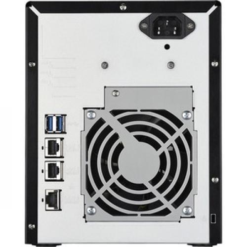 Buffalo TeraStation 5410DN Desktop 24TB NAS Hard Drives Included Rear/500