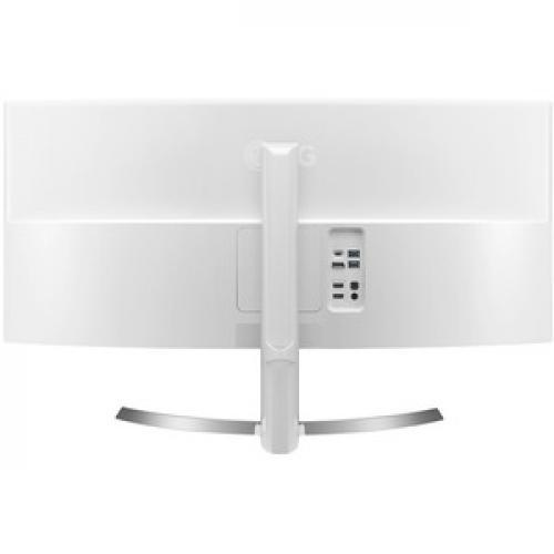 "LG Ultrawide 34CB99 W 34"" UW QHD Curved Screen LED LCD Monitor   21:9   White   TAA Compliant Rear/500"
