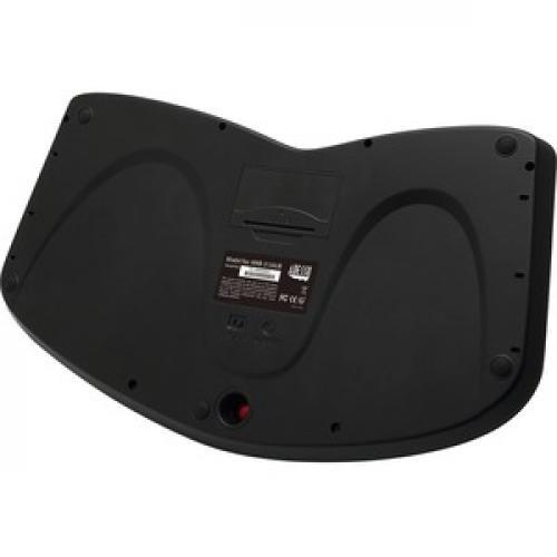 Adesso Tru Form Media 3150   2.4 GHz Wireless Ergo Trackball Keyboard Rear/500