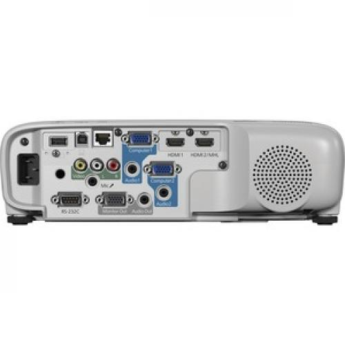 Epson PowerLite 107 LCD Projector   White, Gray Rear/500