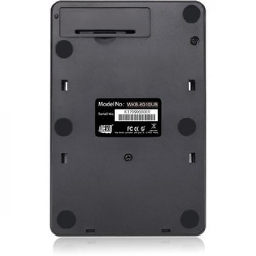 Adesso WKB 6010UB   Wireless Spill Resistant 18 Key Numeric Keypad Rear/500