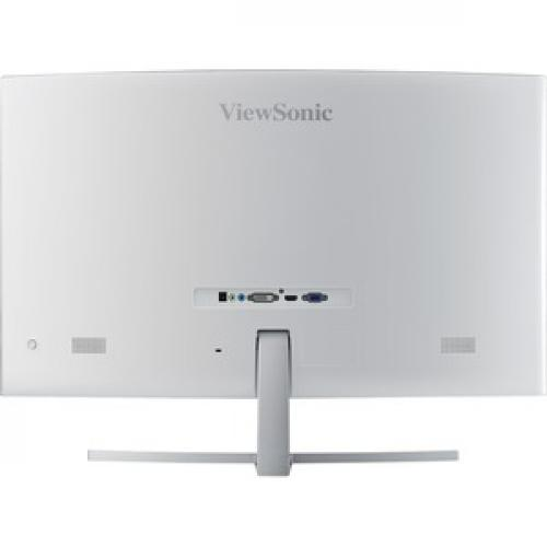 "Viewsonic VX3216 SCMH W 31.5"" Full HD Curved Screen WLED LCD Monitor   16:9   Silver Rear/500"