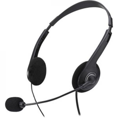 Adesso Xtream H4   3.5mm Stereo Headset With Microphone   Noise Cancelling   Wired  6 Ft Cable  Lightweight Rear/500