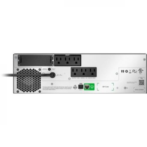 APC By Schneider Electric Smart UPS Li Ion, Short Depth 1500VA, 120V With SmartConnect (Not For Sale In Vermont) Rear/500