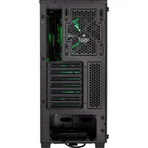 Corsair Carbide Series SPEC DELTA RGB Tempered Glass Mid Tower ATX Gaming Case   Black Rear/500