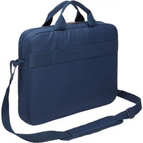 "Case Logic Advantage Carrying Case (Attaché) For 14"" Notebook, Tablet PC, Pen, Portable Electronics, Cord, Cellular Phone, File   Dark Blue Rear/500"