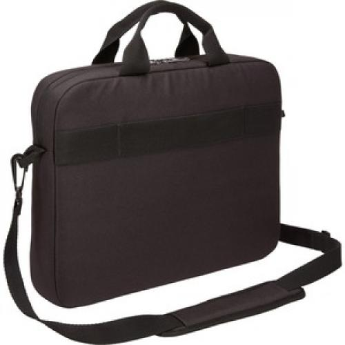 "Case Logic Advantage ADVA 114 BLACK Carrying Case (Attaché) For 10"" To 14.1"" Notebook   Black Rear/500"