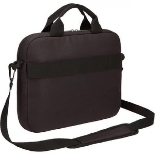 "Case Logic Advantage Carrying Case (Attaché) For 11.6"" Notebook, Tablet PC, Pen, Portable Electronics, Cord, Cellular Phone, File   Black Rear/500"