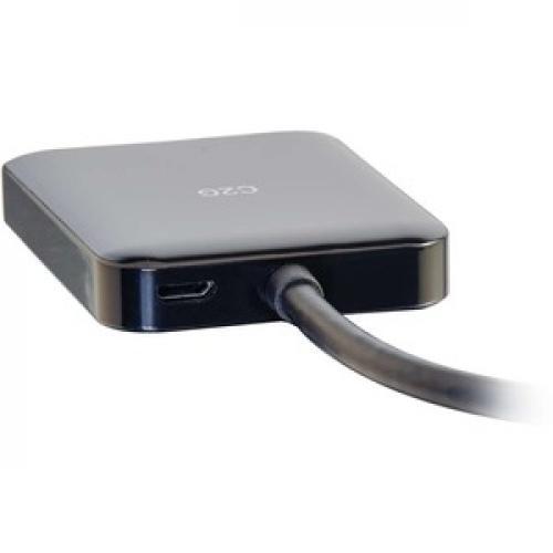 C2G Mini DisplayPort To HDMI Monitor Splitter   2 Port K HDMI MST Hub Rear/500