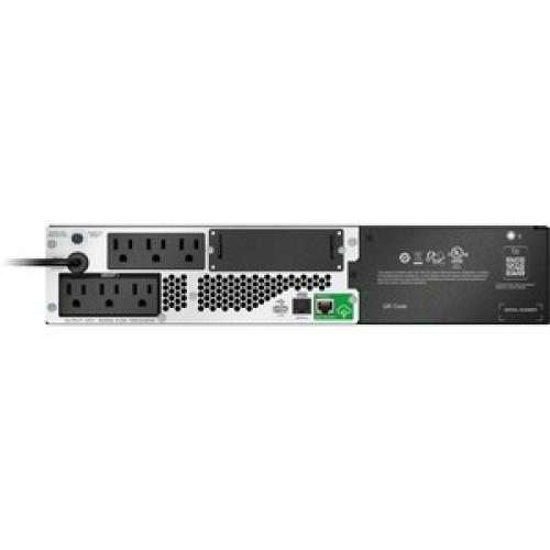 APC By Schneider Electric Smart UPS Li Ion, Short Depth 1000VA, 120V With SmartConnect (Not For Sale In Vermont) Rear/500