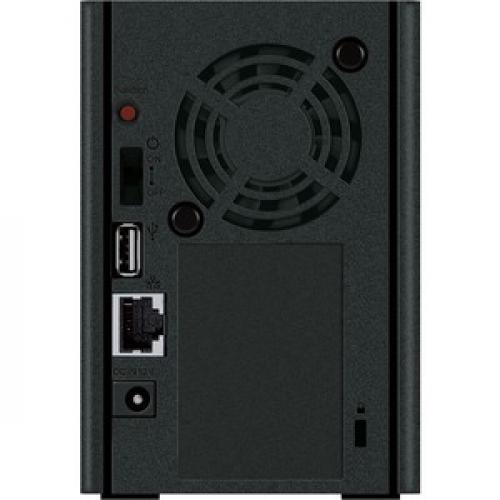 Buffalo LinkStation SoHo 2Bay Desktop 8TB Hard Drives Included Rear/500