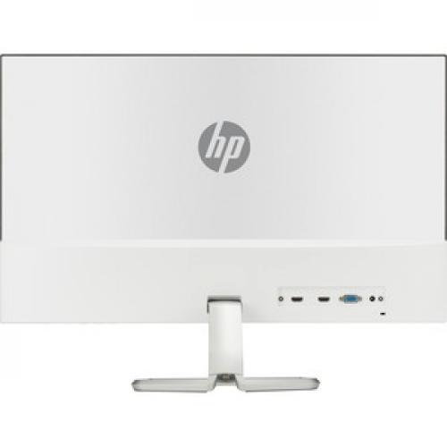 """HP 27fwa 27"""" Full HD LCD Monitor With Integrated Audio Silver & White   1920 X 1080 FHD Display @ 60Hz   Fully Integrated Audio   Ultra Slim Micro Edge Display   In Plane Switching (IPS) Technology   AMD FreeSync Technology Rear/500"""