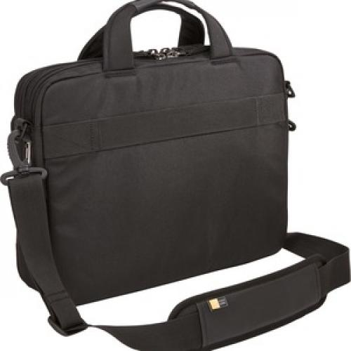 """Case Logic Carrying Case (Briefcase) For 14"""" Notebook, Tablet PC, Portable Electronics, Accessories   Black Rear/500"""
