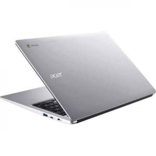 "Acer 315 15.6"" Chromebook Intel Celeron N4020 4GB RAM 32GB EMMC Pure Silver   Intel Celeron N4020 Dual Core   Intel UHD Graphics 600   Built In Webcam & Microphone   Chrome OS   12.5 Hr Battery Life Rear/500"