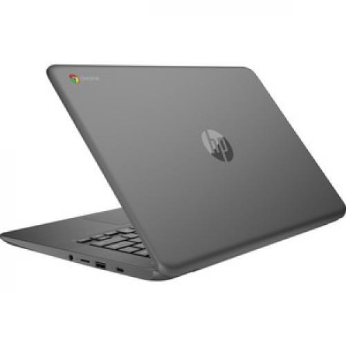 """HP Chromebook 14"""" Intel Celeron N3350 4GB RAM 32GB EMMC Chalkboard Gray   Intel Celeron N3350 Dual Core   Intel HD Graphics 500   USB 3.1 Connector   Audio By B&O   11 Hr 30 Min Battery Life Rear/500"""