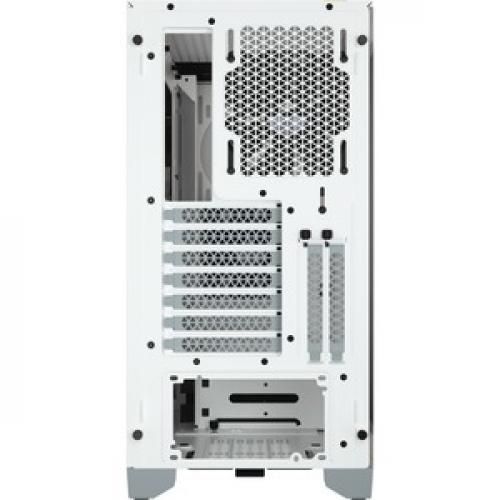 Corsair 4000D Tempered Glass Mid Tower ATX Case   White Rear/500