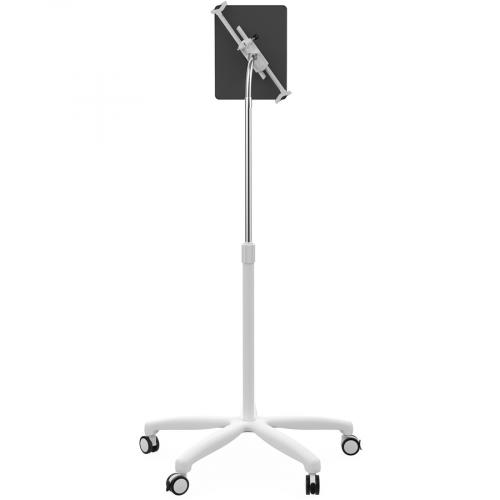 CTA Digital Heavy Duty Medical Mobile Floor Stand For 7 13 Inch Tablets (White) Rear/500