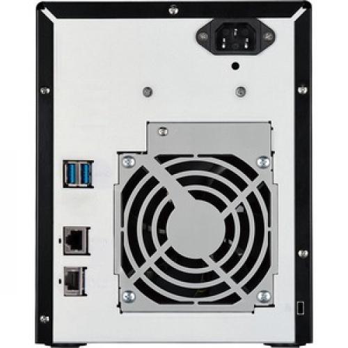 Buffalo TeraStation 3420DN Desktop 8 TB NAS Hard Drives Included Rear/500